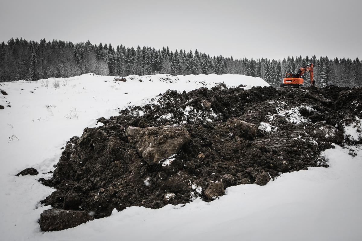 Vantaan Golfpuiston työmaa Petikossa 7. helmikuuta 2018.
