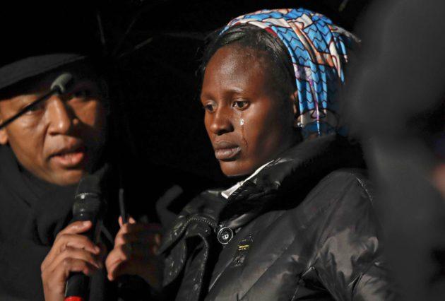 Boko Haramin uhri Rebecca Bitrus osallistui kristittyjen vainosta muistuttavaan tilaisuuteen 24. helmikuuta Colosseumissa Roomassa.