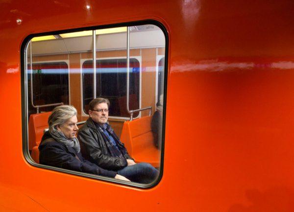 Tuomas Nevanlinna ja Jukka Relander ovat ajaneet jo monesti länsimetrolla.