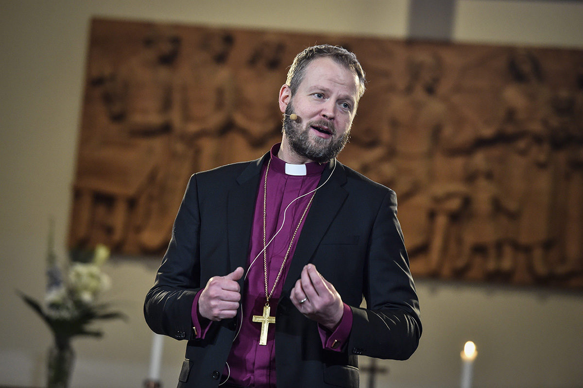 Helsingin piispa Teemu Laajasalo 20. tammikuuta 2018.