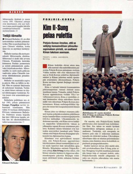 """SK 12/1993 (26.3.1993) Linda Jakobson: """"Kim Il-Sung pelaa rulettia"""""""