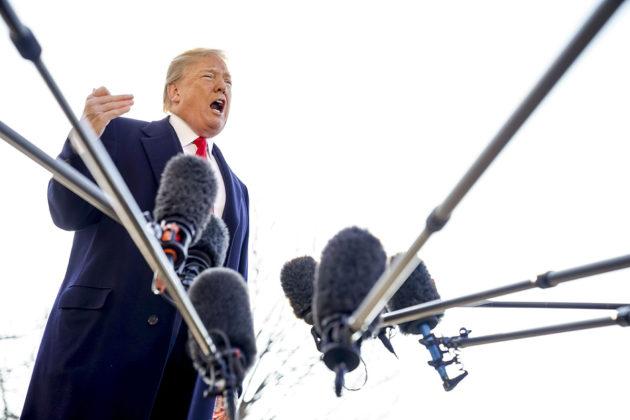 Yhdysvaltain presidentti Donald Trump Washingtonissa 13. maaliskuuta 2018.