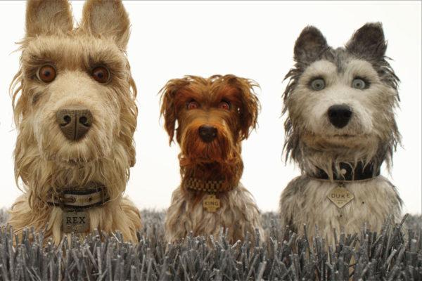 Rex, King ja Duke elokuvassa Isle of Dogs.