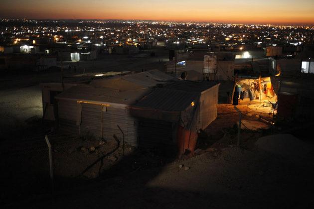 Zaatari on Jordanian suurin syyrialaisten pakolaisleiri. Jordania kärsii vesipulasta, ja tilannetta vaikeuttaa pakolaisten suuri määrä. Kuva heinäkuulta 2016.