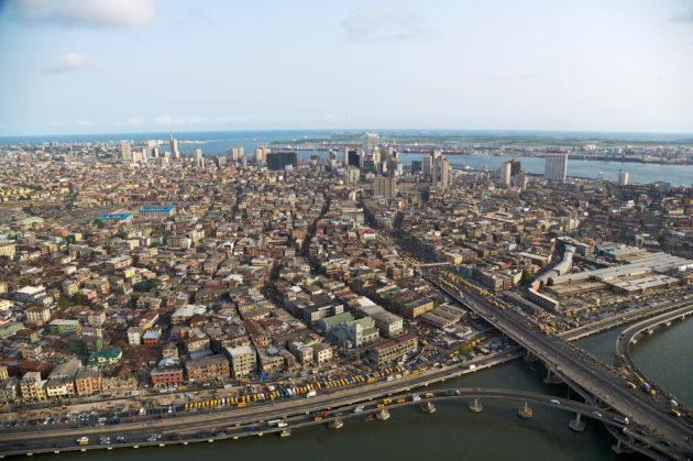 Lagosin kaupunki Nigeriassa.
