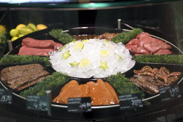 Lihaa myynnissä Citymarket Isossa Omenassa Espossa.