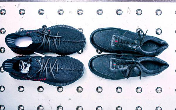 Kengänpohjan Gucci-painatus ei ole hämännyt tullivirkailijoita.