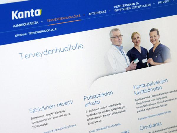Kanta.fi-potilastietopalvelu on yksi esimerkki julkisen hallinnon tietojärjestelmästä, jota tietosuoja-asetus koskee.