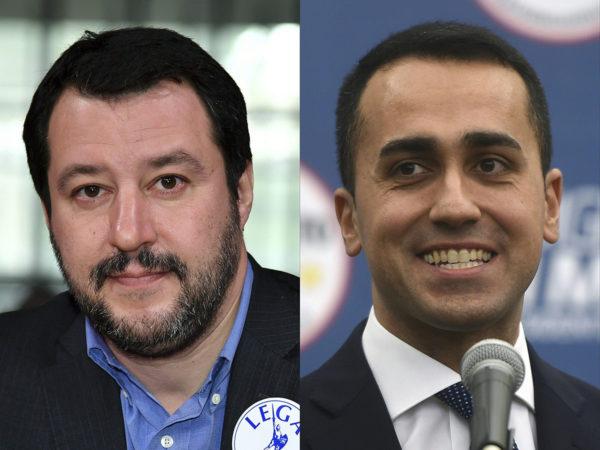 Pohjoisen liiton Matteo Salvini ja Viiden tähden liikkeen Luigi Di Maio jatkavat neuvotteluita ministerilistasta.
