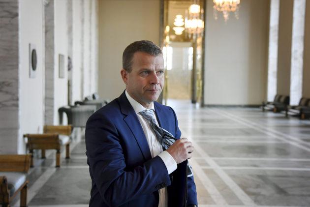 Valtiovarainministeri, kokoomuksen puheenjohtaja Petteri Orpo eduskunnan täysistunnossa 22. toukokuuta 2018.