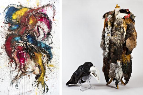 Koen Vanmechelenin teokset Evolution I (2018) ja Domestication (2014).