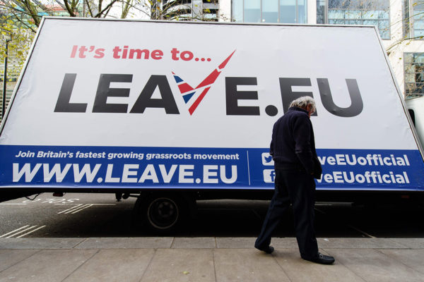 EU-eroa ajaneen kampanjan mainos Lontoossa marraskuussa 2015.