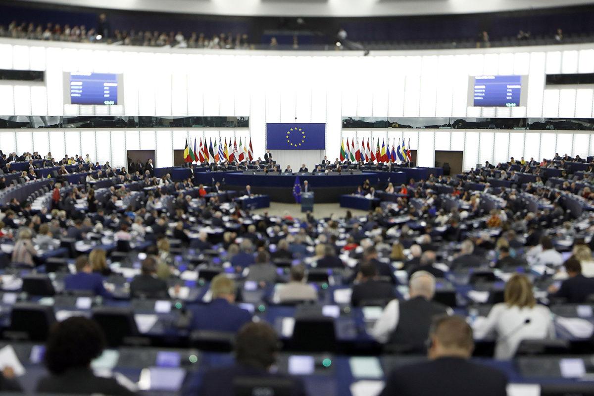 Euroopan parlamentti koolla Strasbourgissa. Kuva syyskuulta 2017.