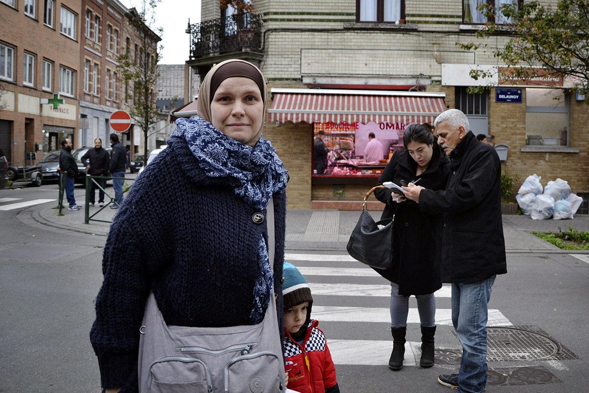 Molenbeekin asukkaita marraskuussa 2015.