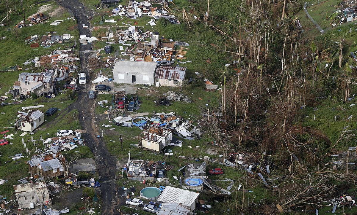 Maria-myrskyn aiheuttamia tuhoja Puerto Ricossa syyskuussa 2017.