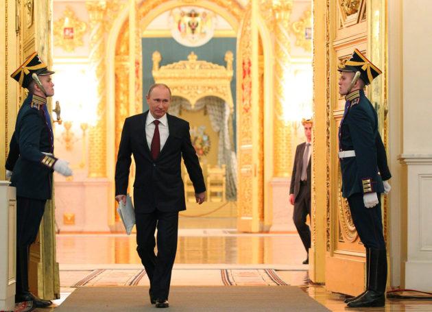 Presidentti Vladimir Putin Kremlissä. Arkistokuva.