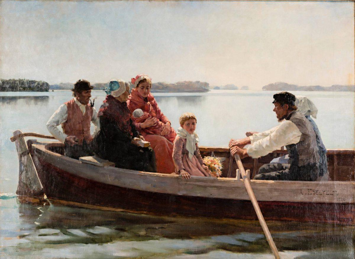Albert Edelfelt: Ristiäissaatto, 1880.