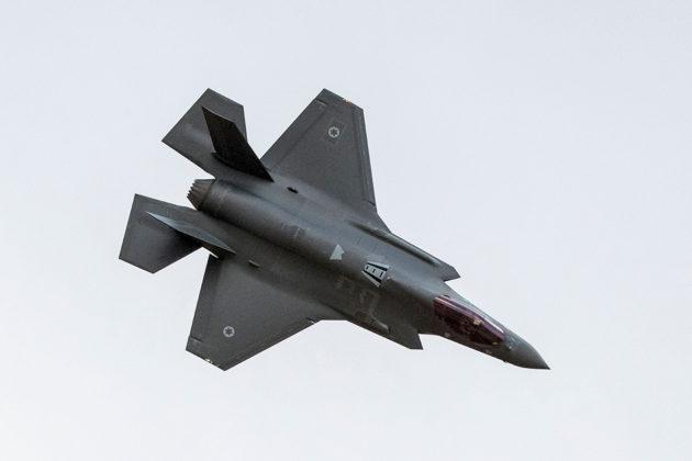 Israelin ilmavoimien F-35-hävittäjä.