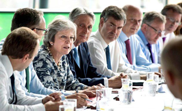 Mayn hallitus kokoontui Koillis-Englannin Gatesheadissa 23. heinäkuuta. Vierailun alkuperäinen aihe, aluepolitiikka, jäi brexitin varjoon.