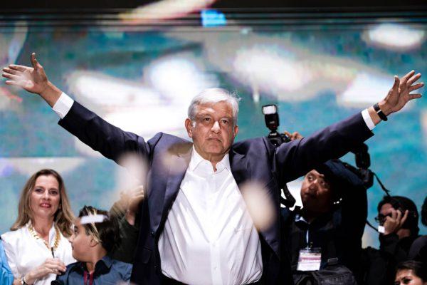 Andrés Manuel López Obrador eli Amlo valittiin Meksikon presidentiksi 1. heinäkuuta.