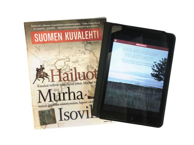 Paperinen Suomen Kuvalehti, arvonlisävero 10 prosenttia, ja digitaalinen Suomen Kuvalehti, arvonlisävero 24 prosenttia.