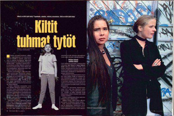 """SK 29/1993 (23.7.1993) Saska Saarikoski ja Anja Kauranen: """"Kiltit tuhmat tytöt"""""""