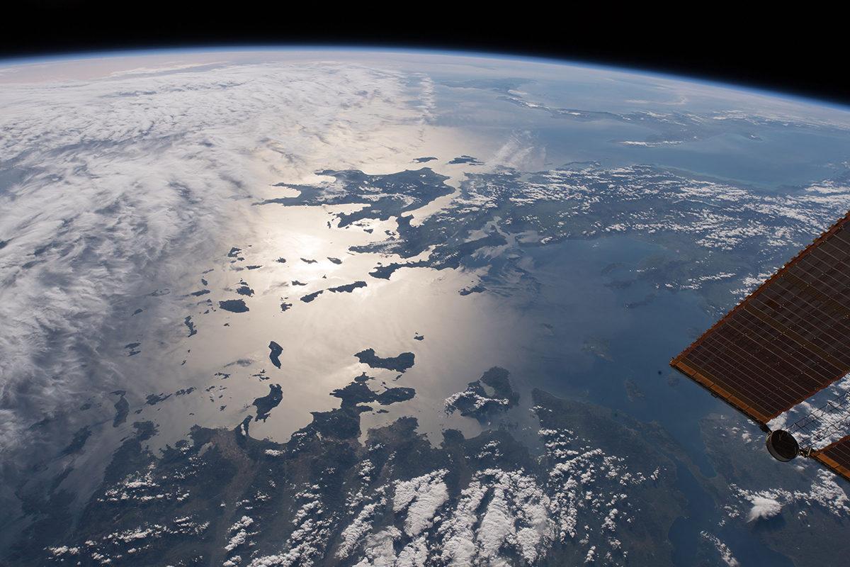 ISS-avaruusasemalta otettu valokuva Kreikan saaristomerestä.