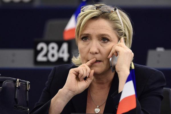 Marine Le Pen Euroopan parlamentissa tammikuussa 2017.