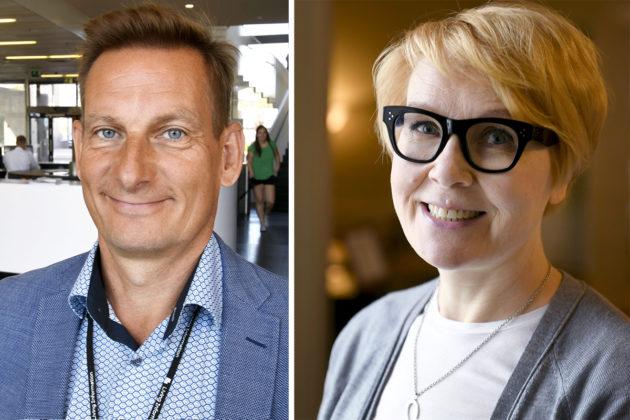 Alma Median toimitusjohtaja Kai Telanne ja Valtioneuvoston viesintäjohtaja Päivi Anttikoski.