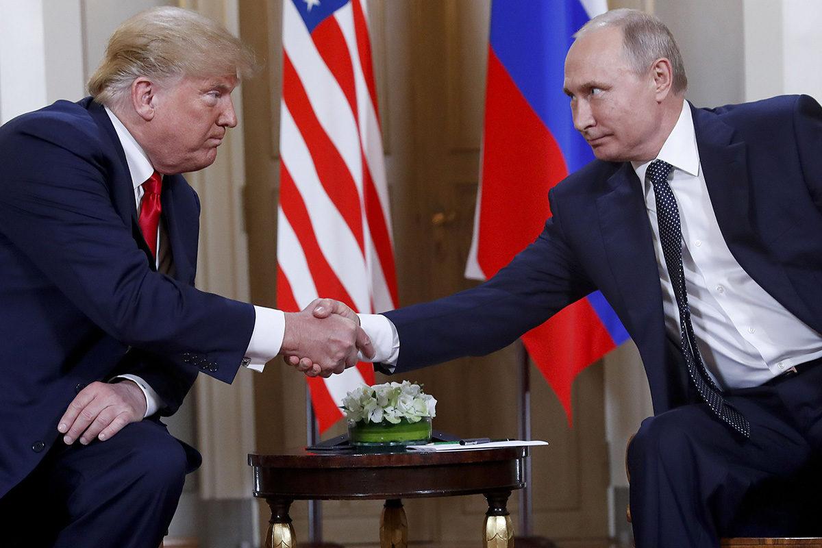 Donald Trump ja Vladimir Putin tapasivat kahden kesken Helsingissä 16.7.2018.