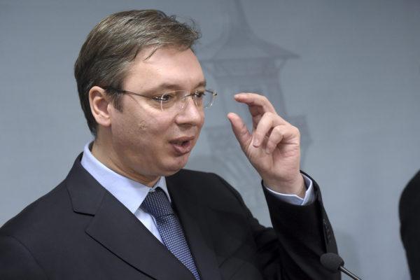 Aleksander Vučić vieraili Suomessa tammikuussa 2015 ollessaan Serbian pääministeri.
