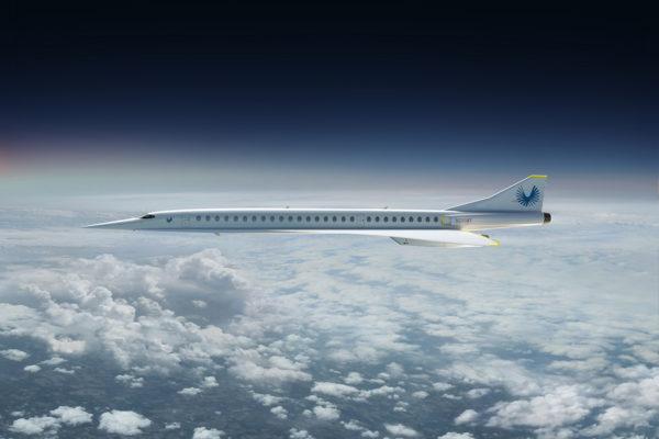 Havainnekuva Boomin suunnittelemasta ääntä nopeammasta matkustajakoneesta.