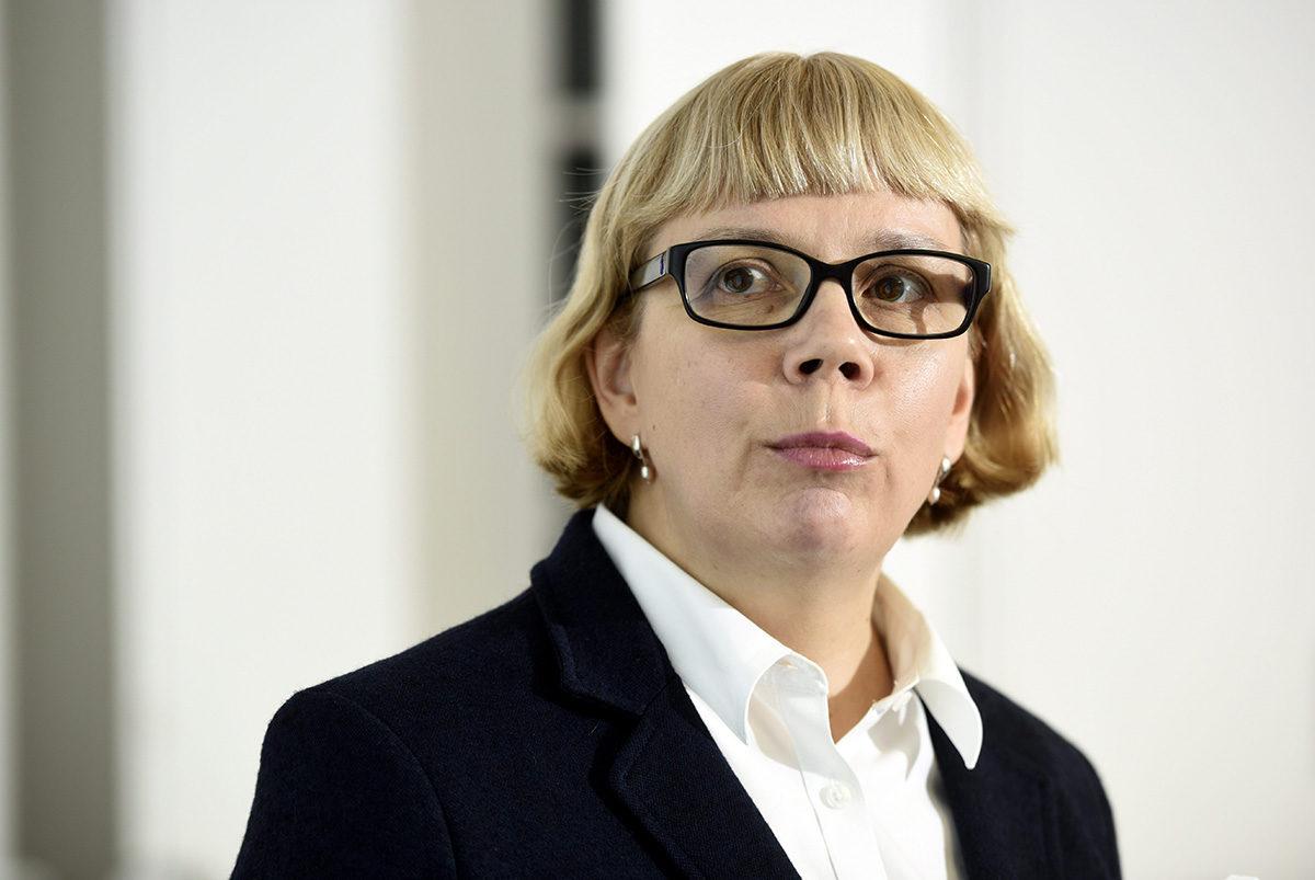 Julkisen sanan neuvoston puheenjohtaja Elina Grundström 23. maaliskuuta 2017.