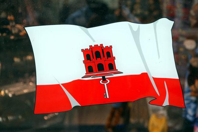 Gibraltarin lippu.