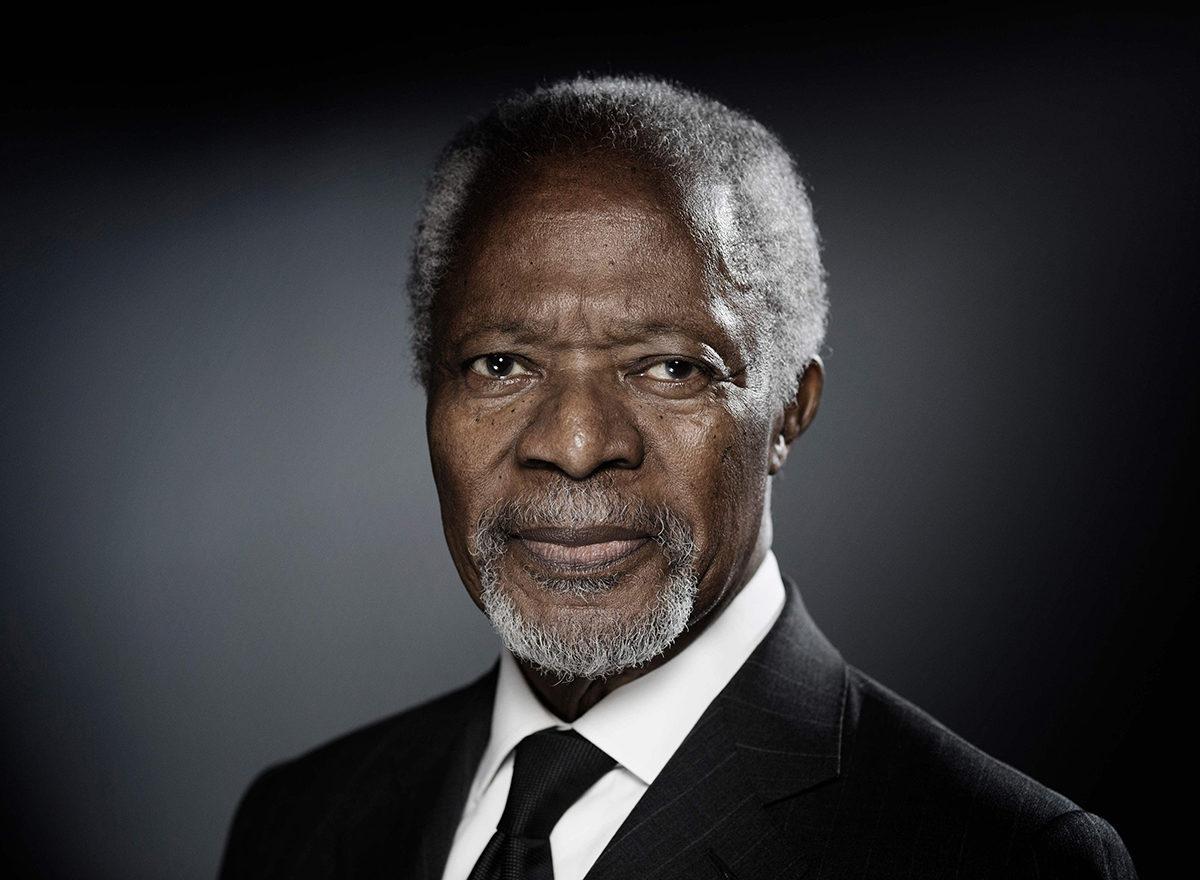 Kofi Annan joulukuussa 2017.