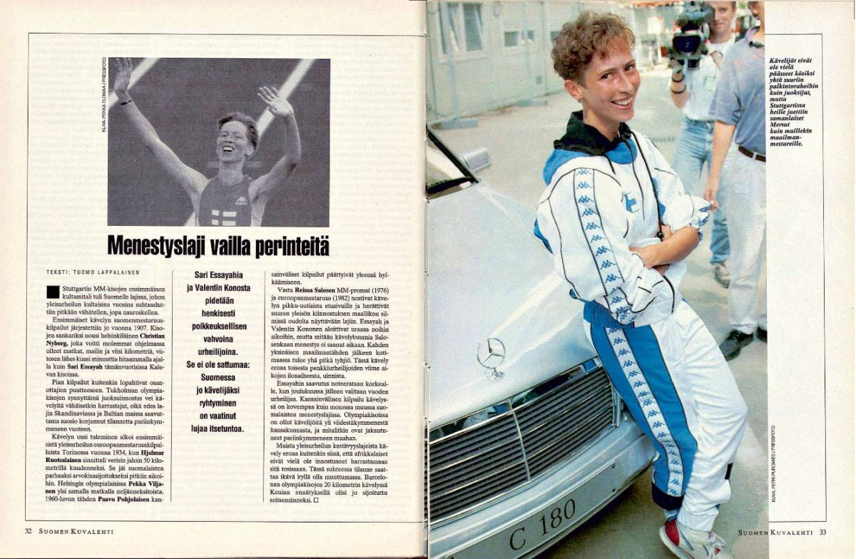 """SK 33/1993 (20.8.1993) Tuomo Lappalainen: """"Menestyslaji vailla perinteitä"""""""
