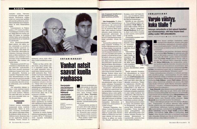 """SK 34/1993 (27.8.1993) Marja Vuorela: """"Vanhat natsit saavat kuolla rauhassa"""""""