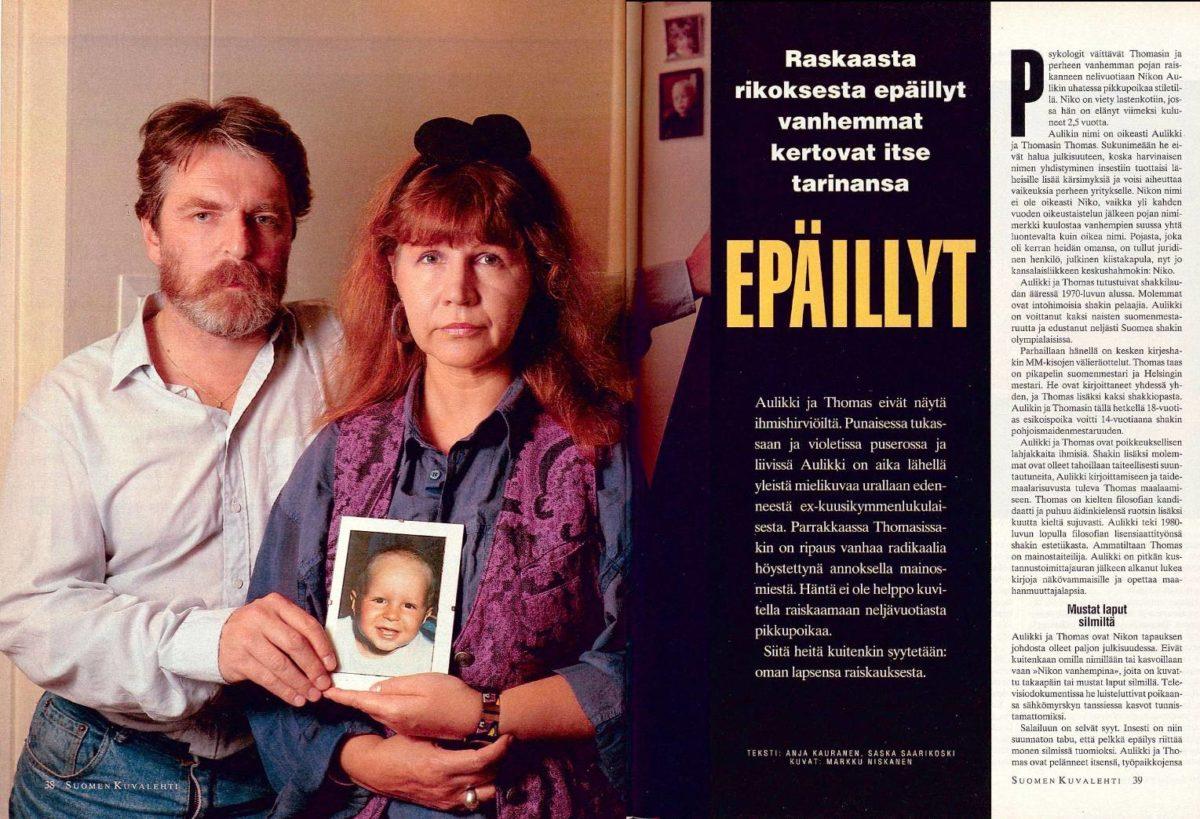 """SK 35/1993 (3.9.1993) Anja Kauranen, Saska Saarikoski: """"Epäillyt"""""""