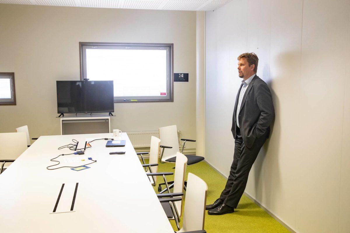Nocartin toimitusjohtaja Vesa Korhonen yrityksen tiloissa 28. elokuuta.