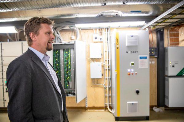Nocartin toimitusjohtaja Vesa Korhonen yhtiön toimitiloissa Lahdessa elokuussa 2018.