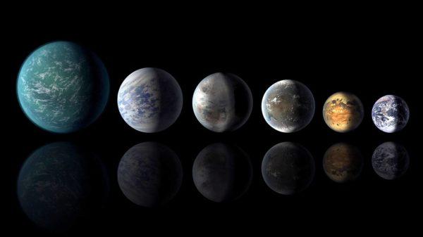 Kuvittajan näkemys eksoplaneetoista.