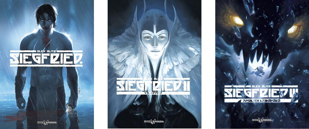 Alex Alice: Siegfried 1–3. Suom. Anssi Rauhala. Zoom Teufel, 240 s.