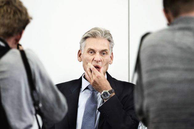 Tiedotustilaisuus 19. syyskuuta oli kova paikka Danske Bankin ykkösmiehelle Thomas Borgenille.