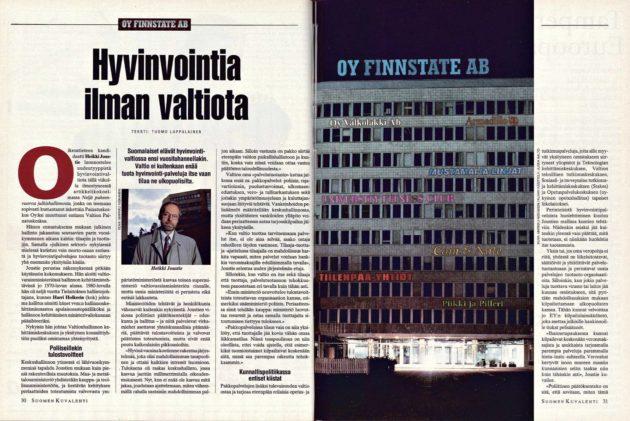 """SK 37/1993 (17.9.1993) Tuomo Lappalainen: """"Hyvinvointia ilman valtiota"""""""