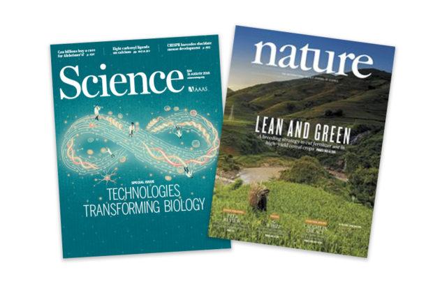 Science- ja Nature-tiedejulkaisujen kannet syyskuussa 2018