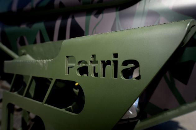 Patria esitteli uuden 6x6-ajoneuvonsa Hämeenlinnassa 27. kesäkuuta 2018. Patria 6X6 on Pasi-kuljetuspanssariajoneuvon seuraaja. LEHTIKUVA / MIKKO STIG