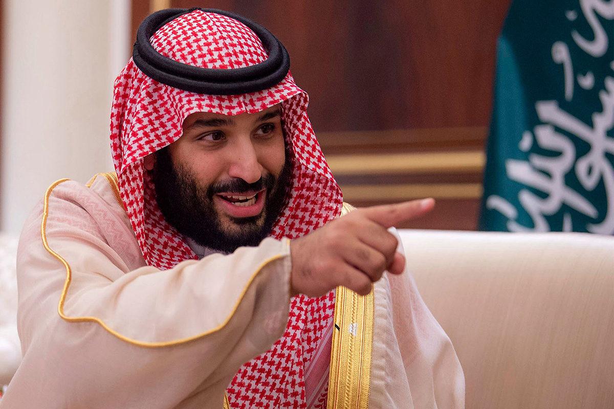 Saudi-Arabian kruununprinssi Mohammed bin Salman kuninkaallisessa palatsissa 30. syyskuuta 2018.