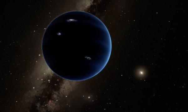 Kuvittajan näkemys mahdollisesta Planeetta X:stä, joka saattaa kiertää Aurinkoa äärimmäisen kaukana.