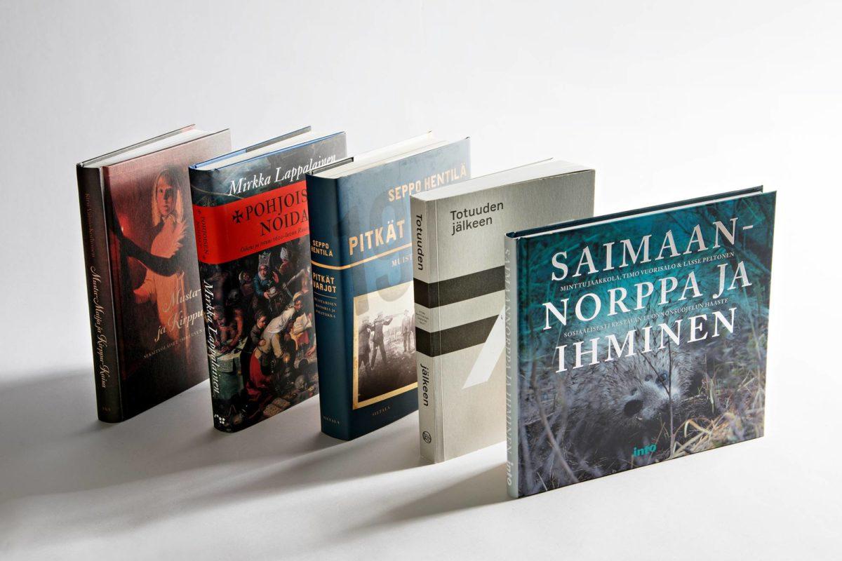 Vuoden 2018 Kanava-tietokirjapalkinnon ehdokkaat.