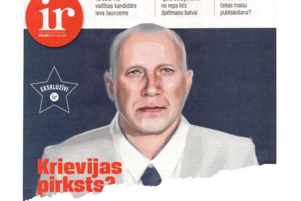 """Ir-lehden kannessa Airiston Helmen omistajaan Pavel Melnikoviin on liitetty otsikko """"Venäjän sormi?"""""""